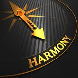 Harmony on Golden Compass. Royalty Free Stock Images