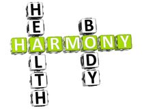 Harmony Health Body Crossword Fotografia Stock Libera da Diritti
