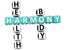 Harmony Health Body Crossword stock illustratie