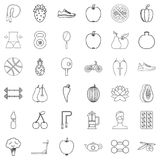 Harmony icons set, outline style Royalty Free Stock Photo