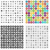 100 harmony icons set variant. 100 harmony icons set in 4 variant for any web design isolated on white royalty free illustration