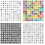 100 harmony icons set vector variant. 100 harmony icons set vector in 4 variant for any web design isolated on white Royalty Free Stock Photography