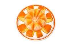 Harmony of orange dessert Royalty Free Stock Image