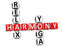 Harmony Relax Yoga Crossword Royalty-vrije Stock Afbeeldingen