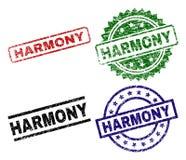 HARMONY Seal Stamps texturisée grunge Illustration Libre de Droits
