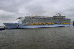 Harmony of the Seas the world's largest cruise ship leaving Rotterdam Stock Photos
