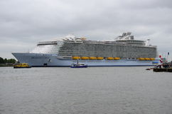 Harmony of the Seas the world's largest cruise ship leaving Rotterdam Stock Image