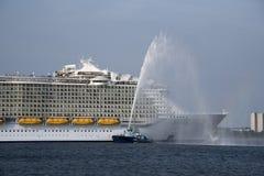 Harmony of the Seas world's largest cruise ship Royalty Free Stock Image