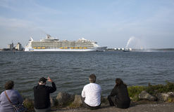 Harmony of the Seas world's largest cruise ship Stock Images