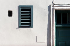 Harmony of shapes and lines on the wall Royalty Free Stock Photography