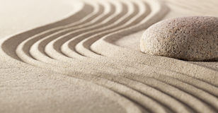 Harmony stillness with pebble and sand stock image
