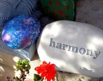Harmony stones. Harmony stones and colorful rocks displayed outdoors Royalty Free Stock Photo