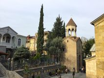 Harmony of Tbilisi old town. Royalty Free Stock Photography