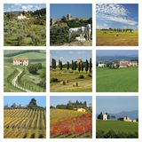 Harmony of tuscan landscape mix Royalty Free Stock Photos