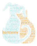 Harmony Word Cloud. On a white background Royalty Free Stock Image