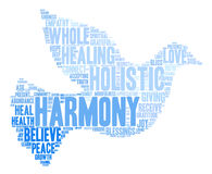 Harmony Word Cloud. On a white background Stock Photos