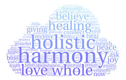 Harmony Word Cloud. On a white background Stock Image