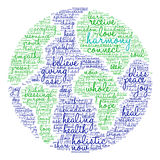 Harmony Word Cloud. On a white background Royalty Free Stock Photo