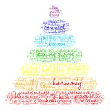 Harmony Word Cloud. On a white background Royalty Free Stock Photos