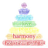 Harmony Word Cloud. On a white background Stock Photography