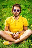 Harmony yoga Stock Images