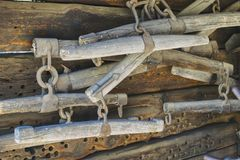 Harnais de tintement, vieux outils agricoles photo libre de droits