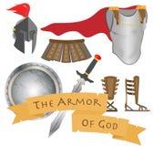 Harnesken av gudkrigaren Jesus Christ Holy Spirit vektor illustrationer