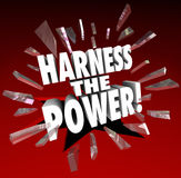 Harness the Power Potential Possible Opportunity Control Manage Stock Images