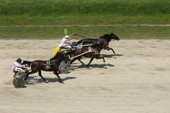Harness racing finish Stock Photo