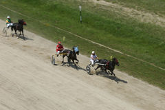 Harness racing finish Royalty Free Stock Photos