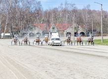 Harness racing. Royalty Free Stock Photo