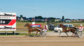 Harness Racing on Karlshorst racetrack Royalty Free Stock Photography
