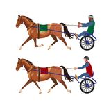 Harness racing vector stock illustration