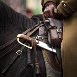 Harness and saber at Polish cavalry. Stock Photos