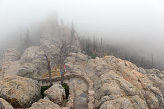 Harney Peak in the Black Hills, South Dakota. Harney Peak in the Black Hills, known as Hinhan Kaga to the Lakota Sioux, is a state high point in South Dakota and Royalty Free Stock Image