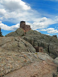 Harney Peak Fire Lookout Tower in Custer State Park in Black Hills of South Dakota Royalty Free Stock Images