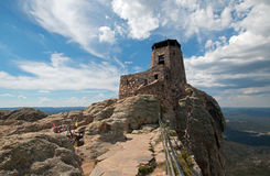 Harney Peak Fire Lookout Tower in Custer State Park in the Black Hills of South Dakota Royalty Free Stock Photos
