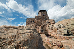 Harney Peak Fire Lookout Tower in Custer State Park in the Black Hills of South Dakota. USA Stock Image