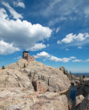Harney Peak Fire Lookout Tower in Custer State Park in the Black Hills of South Dakota USA built by the Civilian Conservation Core Royalty Free Stock Photography
