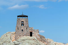 Harney Peak Fire Lookout Tower in Custer State Park in the Black Hills of South Dakota Stock Images
