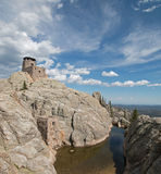 Harney Peak Fire Lookout Tower in Custer State Park in the Black Hills of South Dakota USA Royalty Free Stock Image