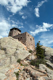Harney Peak Fire Lookout Tower with stone steps in Custer State Park in the Black Hills of South Dakota Royalty Free Stock Photography