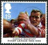 Harold Wagstaff rugby Ligowy UK znaczek pocztowy Obrazy Royalty Free