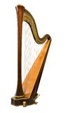 Harp. Classical musical instrument harp on a white background Royalty Free Stock Photography
