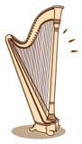 Harp vector Stock Image