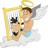 harp anioł Zdjęcie Stock