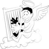 harp anioł Zdjęcia Stock