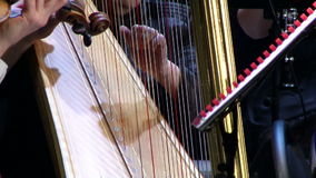Harp on the background of the violin stock footage