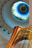 Harp on classic concert Royalty Free Stock Image