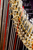 Harp close up Stock Image